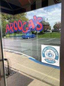 Aroogas front door